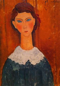 #AmedeoModigliani Portrait of a Girl, ca 1917 #modernart #modernekunst