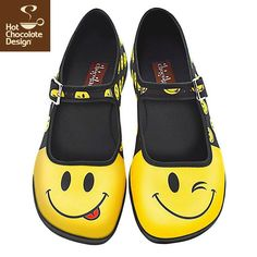 Smile Flats (US to AU Shipping Included) #WomensShoes #comfy #art #summer #HcdUsWarehouse #HcdFlats #canvas #chocolatica #WomenFlats