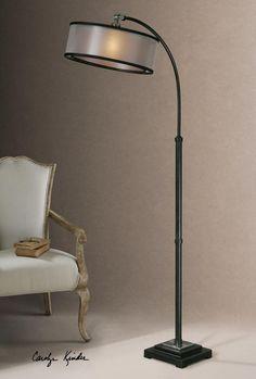 Floor lamp @ $328 One Light Dusty Matte Black Floor Lamp : 28591-1 | 43rd Street Lighting, Inc.
