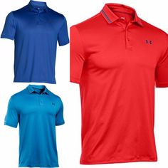 UNDER ARMOUR UA NWT Coldblack Address Polo Top Golf Shirt Red Blue XS S L XL 2XL #Underarmour #PoloRugby