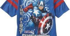 Boys Marvel Avenger Captain America Shirt New with Tags!! Sz 10/12 Great Gift!! #Marvel #Everyday | Estilos de estampas | Pinterest | Shirts, Avengers and Boys