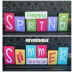 Hey, I found this really awesome Etsy listing at https://www.etsy.com/listing/224996114/reversible-spring-and-summerwood-block