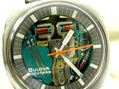 """Vintage Bulova Accutron """"Spaceview T"""" Extremely rare Oversized Model, 100% All Original, Stainless Steel Oversized Case, A3793-LNF"""