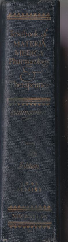 Materia Medica Pharmacology and Therapeutics, May 1945, Medical Book