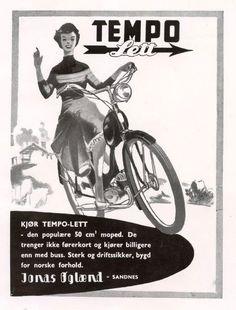 Annonse for moped fra Jonas Øglænd på Old Ads, Motorcycles, Wheels, Bike, Memes, Funny, Vintage, Art, Bicycle