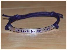 I Believe In Fairies Single Multi-Plate Bracelet
