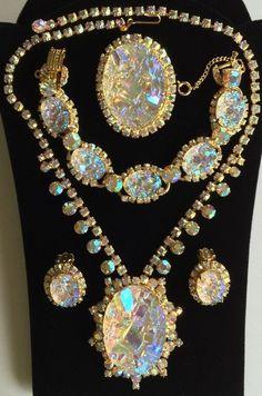 Dazzling JULIANA D&E BOOKPIECE GRAND PARURE~Necklace Bracelet Earrings Brooch in Jewelry & Watches   eBay