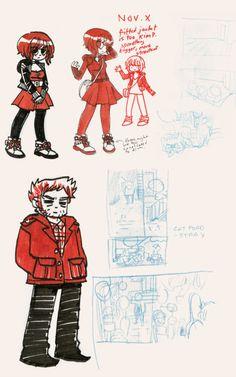 Scott Pilgrim Comic, Bryan Lee O Malley, Character Turnaround, Vs The World, Illustration Art, Illustrations, Art Reference, Comic Art, Fashion Art