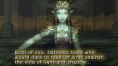 Possessed Zelda in Twilight Princess