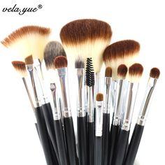 Aliexpress.com: Acheter Pinceaux de maquillage professionnel Set 15 pcs haute qualité outils de maquillage Kit noir de tool set kit fiable fournisseurs sur vela yue
