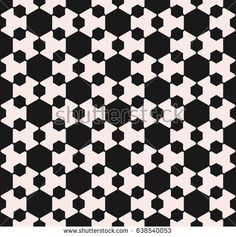 Vector seamless pattern, minimalist monochrome geometric texture. Simple illustration with big and small hexagon figures. Abstract endless background. Design element for prints, decoration, fabric