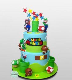 Super Mario Smash, Bolo Super Mario, Super Mario And Luigi, Super Mario Party, Mario Bros Y Luigi, Mario Bros Cake, Mario Bros., Mario Birthday Cake, Super Mario Birthday