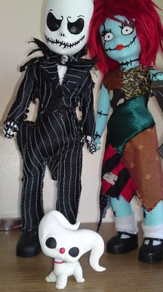My one of a kind Living dead dolls of Jack and Sally - Now living with new owner