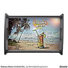 Bahama Mama Cocktail Drink Serving Tray