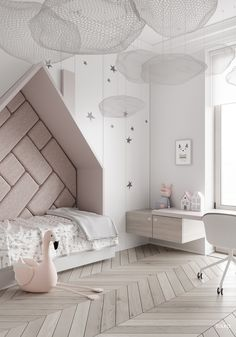 Amazing Kids bedroom layouts - the uber hip kiddies are courses at good taste's . ♡ Amazing Kids bedroom layouts - the uber hip kiddies are courses at good taste's Baths. Colorful, trendy, and creative, check out 18 kids' rooms that a. Small Room Bedroom, Modern Bedroom, Girls Bedroom, Small Rooms, Master Bedroom, Trendy Bedroom, White Bedrooms, Childs Bedroom, Luxury Kids Bedroom