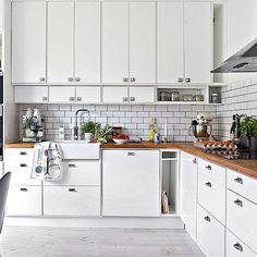 √ Scandinavian Kitchen Design For Your Lovely Home - Boxer JAM Minimal Kitchen, New Kitchen, Kitchen Dining, Kitchen Decor, Kitchen Cabinets, Kitchen Walls, Kitchen Interior, Interior Design Living Room, Kitchen Stories