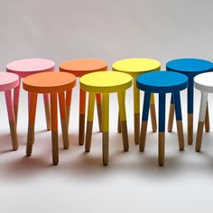 Paint dipped stools