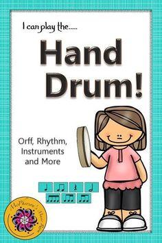Elementary Music I can play the…Hand Drum: Orff, Rhythm, Instruments & Preschool Music, Music Activities, Teaching Music, Movement Activities, Classroom Activities, Elementary Music Lessons, Elementary Choir, Drum Music, Music Music