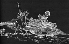 I see a dark sail on the horizon, set under a black cloud that hides the sun.  (Dᴀʀʟᴇɴᴇ from the AD&D Dungeon Masters Guide, TSR, 1979.)