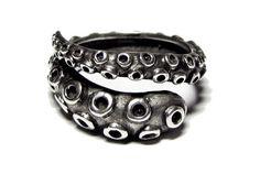 Sterling Silver Octopus Tentacle Wrap Ring de Best-Buy por DaWanda.com