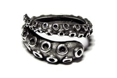 Sterling Silver Octopus Tentacle Wrap Ring  de Best-Buy por DaWanda.com