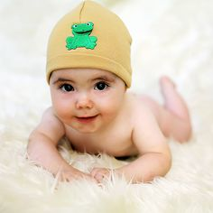 #jamieraehats Boys Frog Knit Hat #babyboutique
