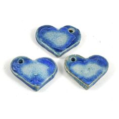 Handmade Ceramic Heart Focal Bead ($4) via Polyvore featuring jewelry, beads jewellery, heart jewellery, heart shaped jewelry, heart jewelry and beaded jewelry