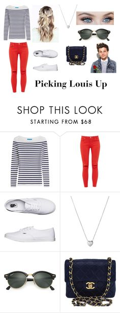 """Picking Louis up"" by courts-horan13 on Polyvore featuring M.i.h Jeans, Ted Baker, Vans, Links of London, Ray-Ban and Chanel"