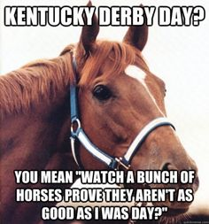 LOL! Secretariat. Became the first horse to trim the two-minute mark in the Kentucky Derby when he broke the stakes (and track) record at Churchill.