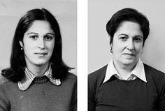 Fotógrafa capta os efeitos do tempo em fotos comparativas