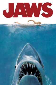 Poster from the thriller Jaws Officially licensed merchandise Hanging hardware included Classic Movie Posters, Horror Movie Posters, Classic Movies, Horror Movies, Funny Posters, Retro Posters, Rock Posters, Comedy Movies, Watch Movies