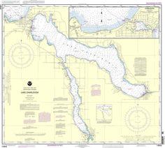 NOAA Nautical Chart 14942: Lake Charlevoix;Charlevoix, South Point to Round Lake