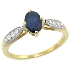 https://ariani-shop.com/10k-yellow-gold-natural-blue-sapphire-ring-oval-7x5mm-diamond-accent-5-16-inch-wide-sizes-5--10 10K Yellow Gold Natural Blue Sapphire Ring Oval 7x5mm Diamond Accent, 5/16 inch wide, sizes 5 - 10