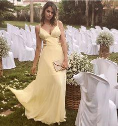 vestido de festa amarelo praia ou campo