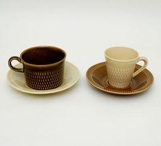 Kåre Berven Fjeldsaa - Stavangerflint Brunette cups and saucers