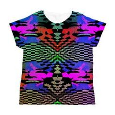 JANIS Women's All Over Print T-Shirt > ALL OVER PRINT T-SHIRTS AND STUFF > Designs By AlienWear.com Online Store