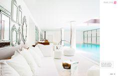 Spa at Le Royal Monceau in paris designed by Phillipe Starck. March 2013 - Lonny Magazine - Lonny