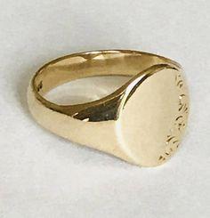 04bcbd99ecb Superb vintage 9ct yellow gold men s signet ring Signet Ring