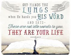 Reading His Word is not about getting Him to love you... but about getting yourself to the place where you can hear Him tell you He loves you.