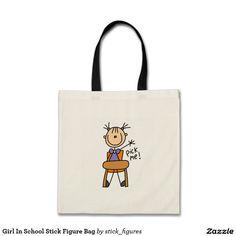 Girl In School Stick Figure Bag
