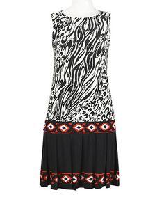 Black & Red Jungle Sleeveless Dress #zulily #zulilyfinds