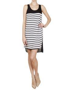 Michael Kors Bretton Stripe Dress in Navy/White// lovely