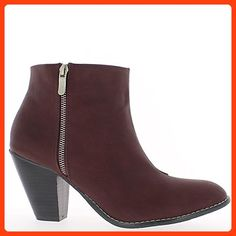 Red low boots painted with 10cm heel - 9.5 (*Partner Link)