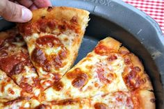 Mommy's Kitchen - Home Cooking & Family Friendly Recipes: Copy Cat Pizza Hut Pepperoni Pan Pizza