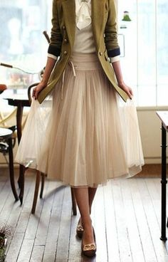 Tutu skirk. We like ours longer but we love tuille skirts, so girly