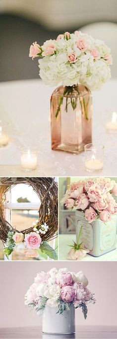 Floral arrangements in pink tones – My Wedding Dream Wedding Centerpieces, Wedding Table, Our Wedding, Dream Wedding, Wedding Decorations, Deco Floral, Vintage Party, Floral Arrangements, Wedding Planner