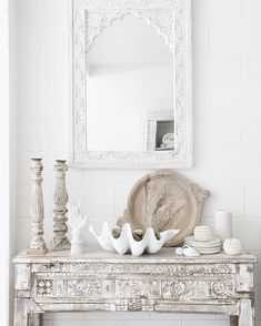 This console has the most beautiful patina. The front panel is original. I think this one would work particularly well in a coastal home #console #sideboard #indianconsole #indianfurniture #whiteconsole #halltable #coastalhome #coastalinteriors #rusticinterior #whiteonwhite #tropicalstyle #globaldecor #lifestylestore