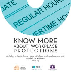 Workplace protections – like not being discriminated against because you are a survivor of domestic violence, and being able to take time off of work to address medical or legal issues – are vitally important to helping survivors stay safe and economically secure. #endDV #NoMore http://www.legalmomentum.org/resources/state-law-guide-employment-rights-victims-domestic-or-sexual-violence