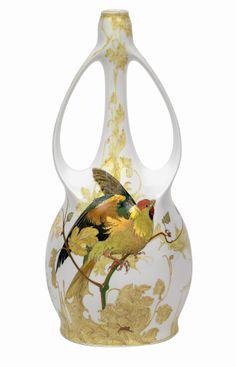 """** Rozenburg, Den Haag, """"Eggshell"""" Porcelain vase."""