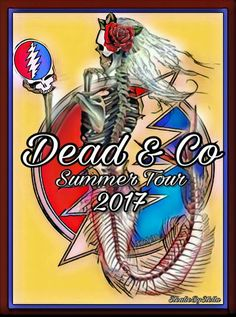 Dead and Company - Summer Tour, 2017 Mad Men Poster, Phil Lesh And Friends, Dead And Company, Skulls And Roses, Dead To Me, Forever Grateful, Grateful Dead, Concert Posters, Art Music